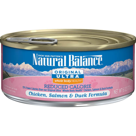 Natural Balance Original Ultra Whole Body Health Reduced Calorie Chicken, Salmon & Duck Formula Wet Cat Food