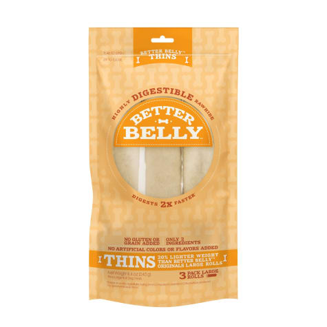 Better Belly Thins Large Roll Chews for Dogs