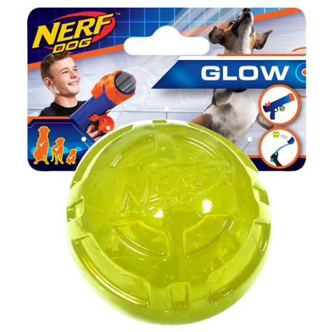 Nerf Ultra Tough TPR Glow Ball Green Dog Toy