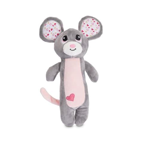 Love My Pup Mousie Valentine Plush Stick Dog Toy