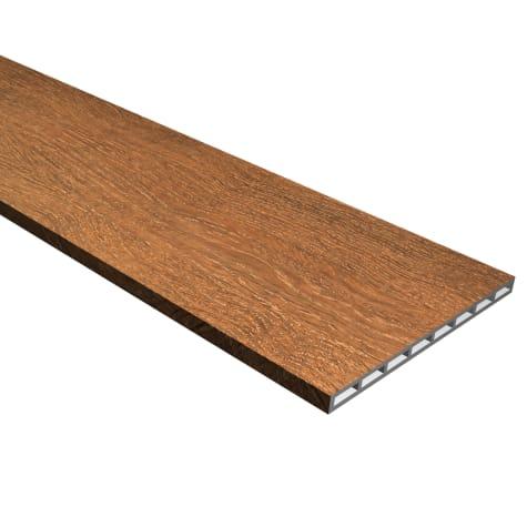 Cali Vinyl Pro Stair Riser, Saddlewood