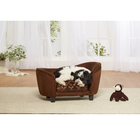 Enchanted Home Pet Brown Ultra Plush Snuggle Pet Sofa