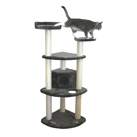 Kitty Mansions Toronto Gray Cat Tree