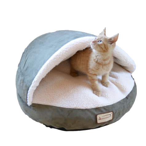 Armarkat Canopy Cat Bed in Laurel and Ivory