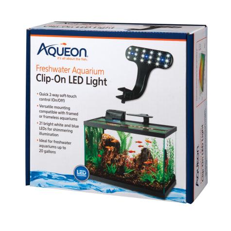 Aqueon Freshwater Aquarium Clip-On LED Fixture