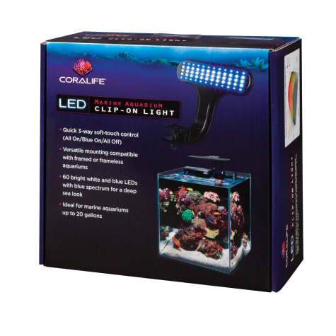 Coralife Marine Aquarium Clip-On LED Fixture