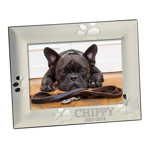 Custom Personalization Solutions Personalized Silver Dog Memorial Frame