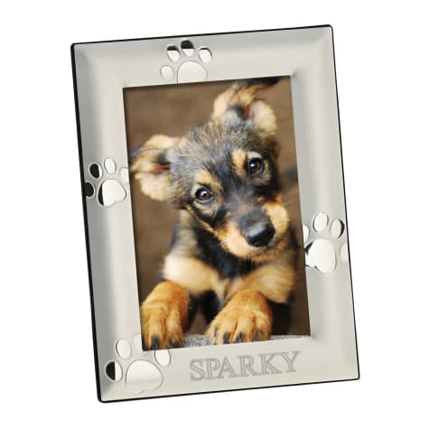 Custom Personalization Solutions Personalized Vertical Silver Dog Frame