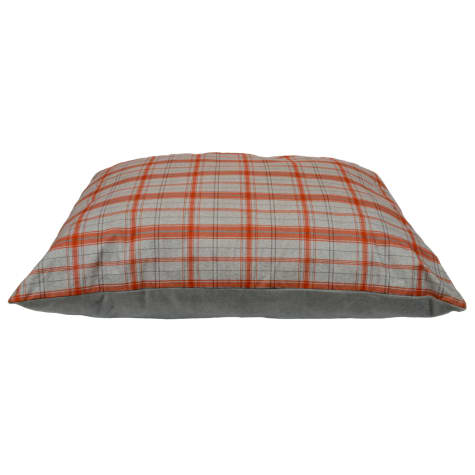 Dallas Manufacturing Knife Plaid Red Piping Dog Bed