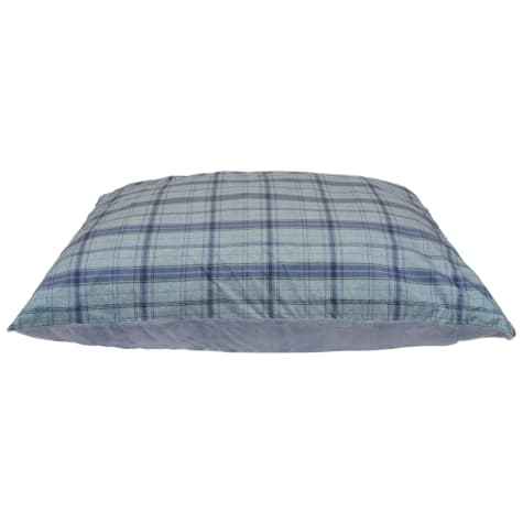 Dallas Manufacturing Knife Gaint Brushed Plaid Blue Piping Dog Bed