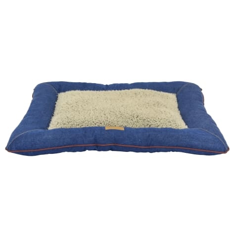 Dallas Manufacturing Denim Pillow Wine Piping Dog Bed