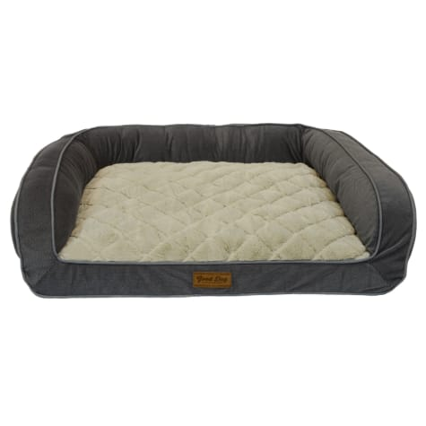 Dallas Manufacturing Couch Grey Piping Dog Bed