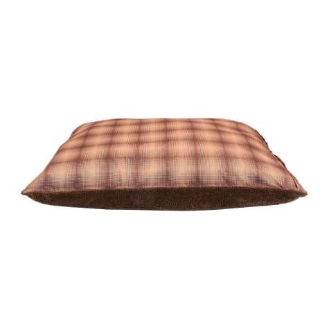 Dallas Manufacturing Plaid Red Piping Dog Bed