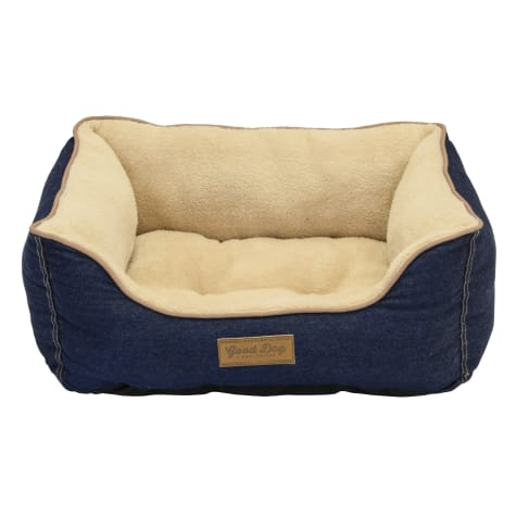 Dallas Manufacturing Denim Bed Piping Dog Bed