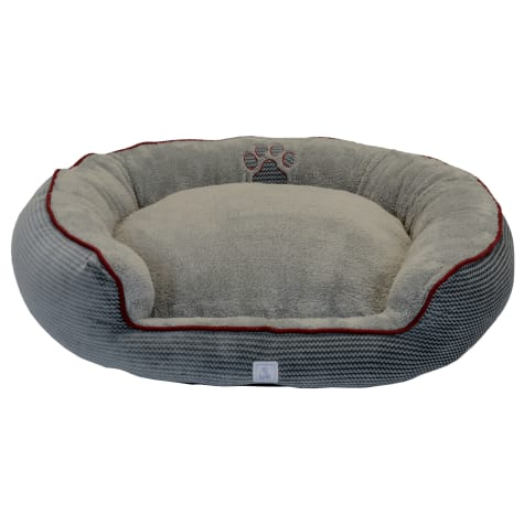 Dallas Manufacturing ZigZag Gray Bolster Dog Bed