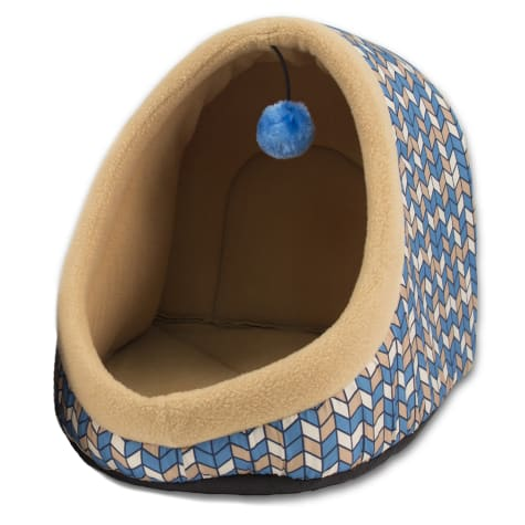 Dallas Manufacturing Hooded Blue Cat Bed