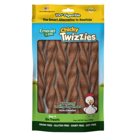 Emerald Pet Products Chicky Twizzies Sticks for Dogs