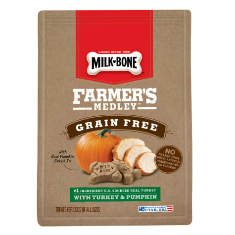 Milk-Bone Farmer's Medley Grain Free With Turkey & Pumpkin Dog Treats