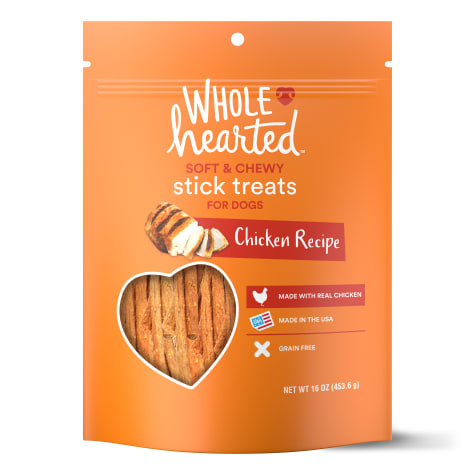 WholeHearted Grain Free Soft and Chewy Chicken Recipe Dog Stick Treats