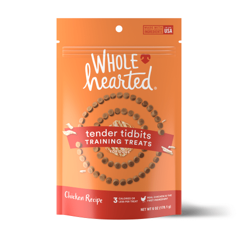 WholeHearted Grain Free Soft and Chewy Chicken Recipe Dog Training Treats