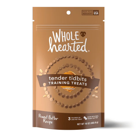 WholeHearted Grain Free Soft and Chewy Peanut Butter Recipe Dog Training Treats