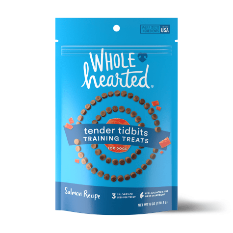 WholeHearted Grain Free Soft and Chewy Salmon Recipe Dog Training Treats