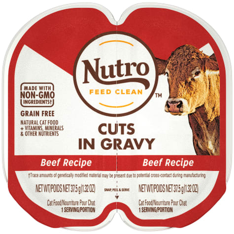 Nutro Perfect Portions Real Beef Cuts in Gravy Wet Cat Food