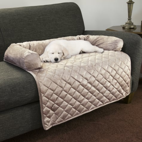 PETMAKER Furniture Protector Pet Cover with Bolster in Beige for Dogs