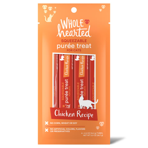 WholeHearted Chicken Recipe Puree Squeezable Cat Treats