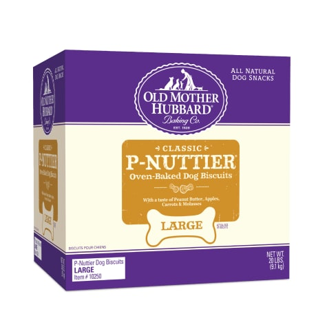 Old Mother Hubbard Crunchy Classic Natural P-Nuttier Large Dog Biscuits