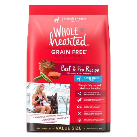 WholeHearted Grain Free Large Breed Beef and Pea Recipe Adult Dry Dog Food