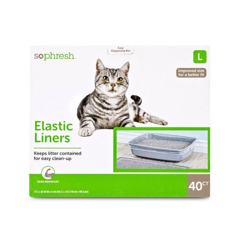 So Phresh Elastic Cat Litter Pan Liners