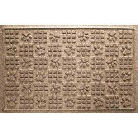 Bungalow Flooring Paw Squares Khaki Dog Mat