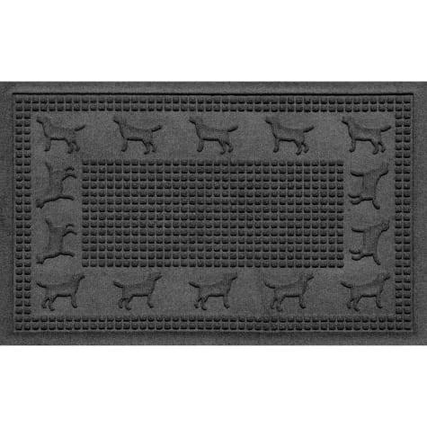 Bungalow Flooring Lab Border Charcoal Dog Mat