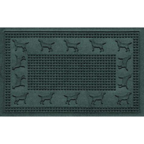 Bungalow Flooring Lab Border Evergreen Dog Mat
