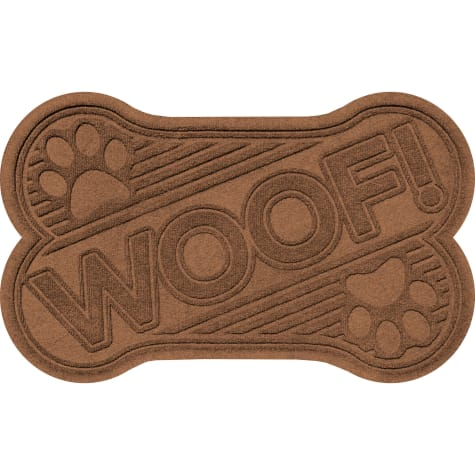 Bungalow Flooring Woof bone Dark Brown Dog Mat