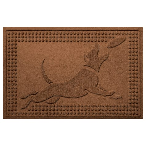 Bungalow Flooring Flying Dark Brown Dog Mat