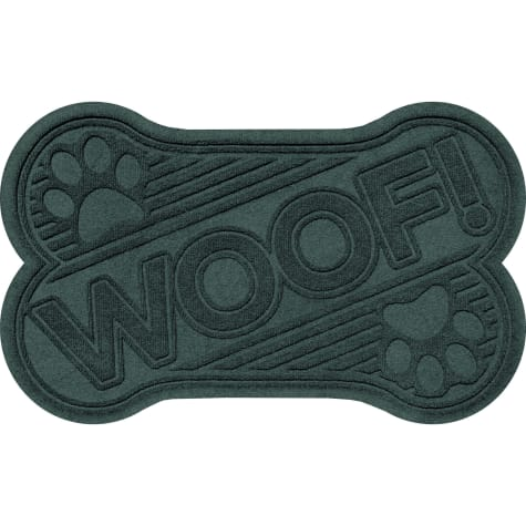 Bungalow Flooring Woof bone Evergreen Dog Mat