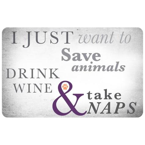Bungalow Flooring Animals Wine & Naps Dog Mat