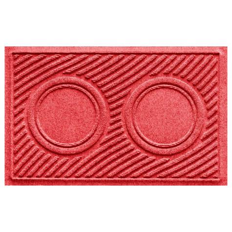 Bungalow Flooring Red Wave Dog Bowl Mat