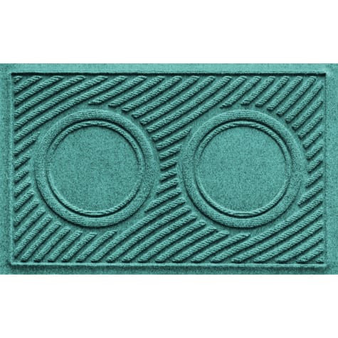 Bungalow Flooring Aquamarine Wave Dog Bowl Mat
