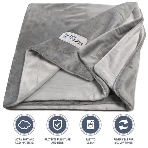 PetFusion Microplush Pet Gray Blanket