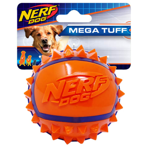 Nerf Two Tone TPR Spike Ball Dog Toy