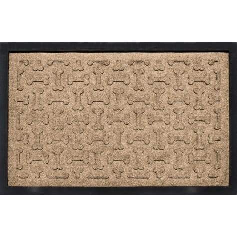 Bungalow Flooring Bone Treats Feeding Tray Khaki Dog Mat 18