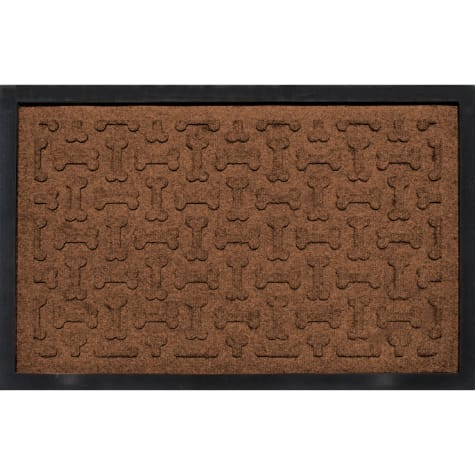 Bungalow Flooring Bone Treats Feeding Tray Dark Brown Dog Mat