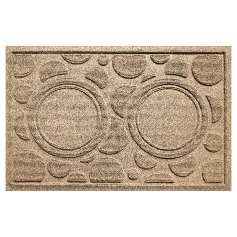 Bungalow Flooring Bowl Dots Khaki Dog Mat