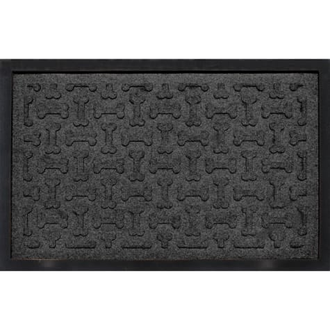 Bungalow Flooring Bone Treats Feeding Tray Charcoal Dog Mat