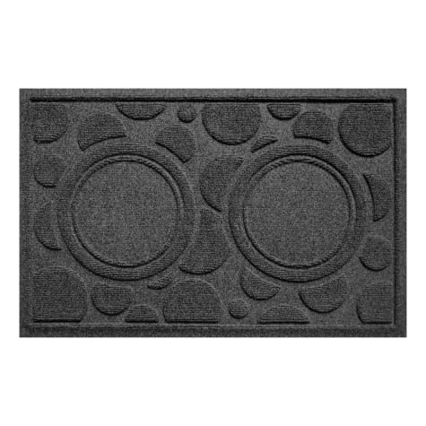 Bungalow Flooring Bowl Dots Charcoal Dog Mat