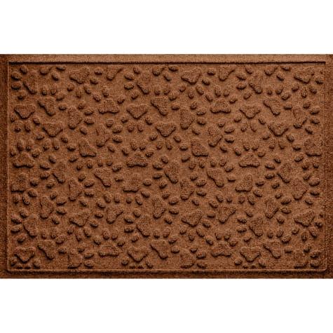 Bungalow Flooring Scattered Paws Dark Brown Dog Mat