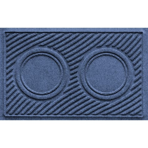 Bungalow Flooring Navy Wave Dog Bowl Mat